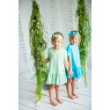 Girl dress with frill mint