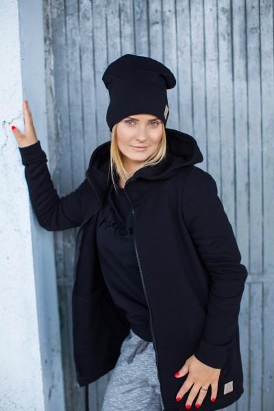 damska bluzo-kurtka CZARNY