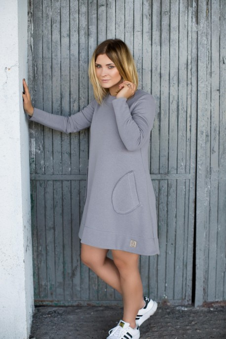 Women Winter DRESS grey