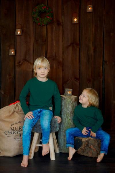 longsleeve CHRISTMAS edition butelkowa zieleń
