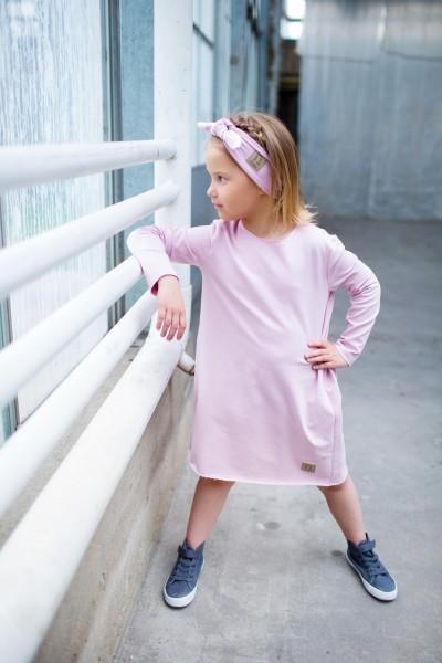sukienka z marsczczonym tyłem PINK tuss