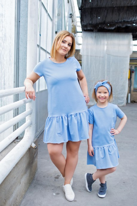 sukienka damska FRILL BLUE tuss