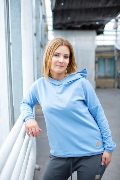 bluza damska z kapturem BLUE tuss