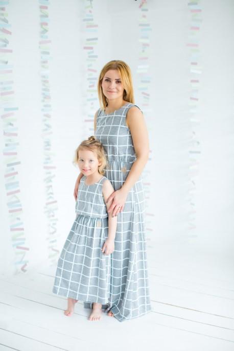 f3e233b3a3 Sukienka MAXI dziecięca GRID - Tuss