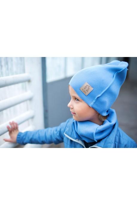 czapka + komin BLUE tuss