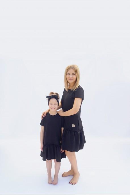 Sukienka FRILL BLACK tuss