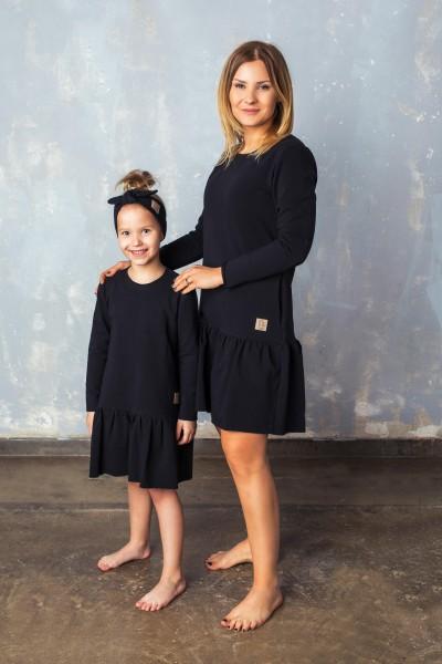 Sukienka Frilly czarna tuss