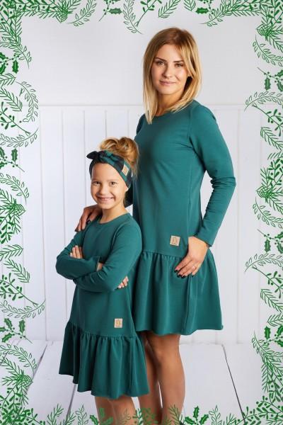 Sukienka damska Frilly Christmas zielona