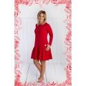 Sukienka damska Frilly Christmas czerwona