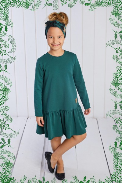 Sukienka Frilly Christmas zielona