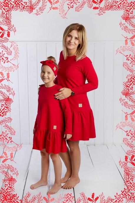 Sukienka Frilly Christmas czerwona