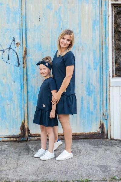 Sukienka Frilly Star damska navy