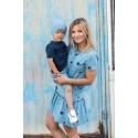 Sukienka Frilly Star damska dusty blue