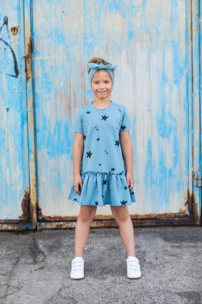 Sukienka Frilly Star dusty blue