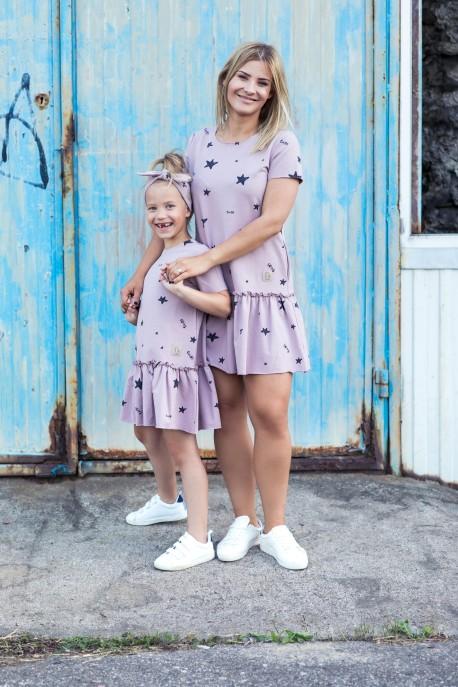 Sukienka Frilly Star damska dusty pink
