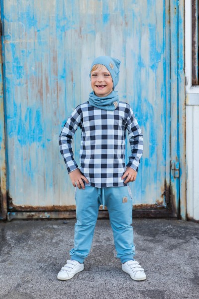 Spodnie Baggy dusty blue
