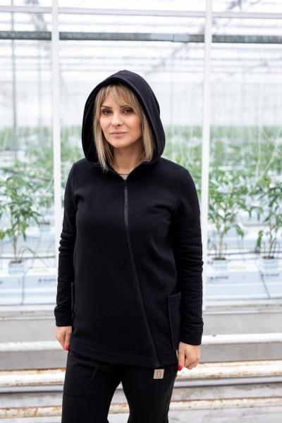 Bluza damska ZIP czarna