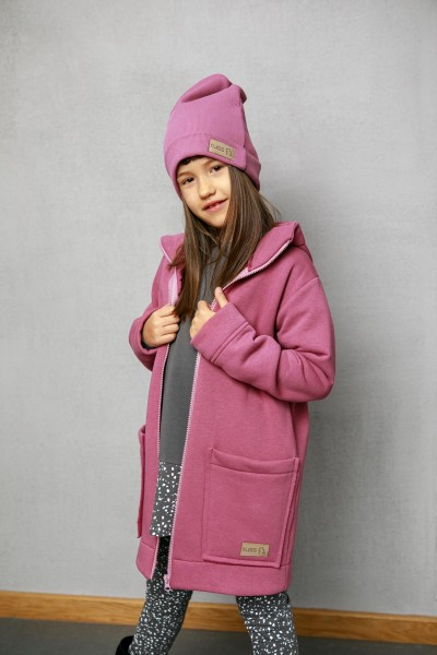 Bluzo-kurtka dziecięca ZIP lilac