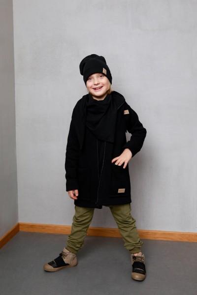 Bluzo-kurtka dziecięca ZIP black