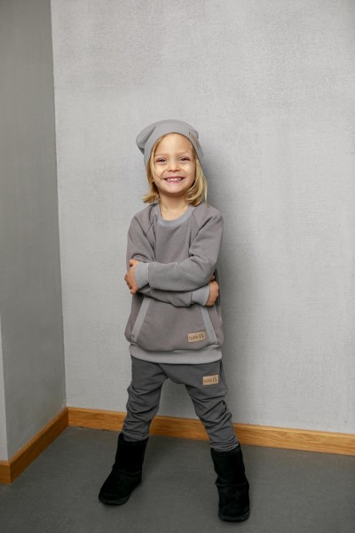Bluza dziecięca POCKET grey