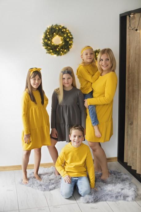 Sukienka dziecięca LEA grey
