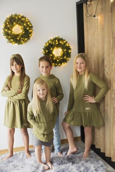 Sukienka dziecięca FRILLY khaki