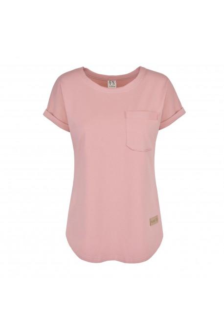 T-shirt damski POCKET rose