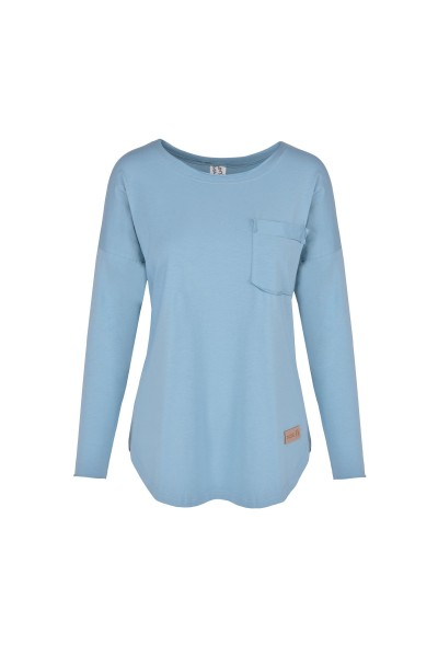 Longsleeve damski POCKET blue