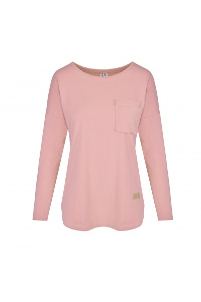Longsleeve damski POCKET rose