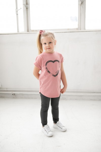 T-shirt HEART rose