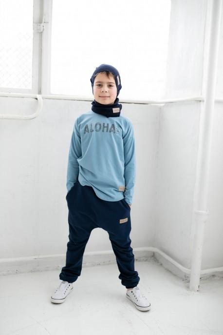 Longsleeve ALOHA blue