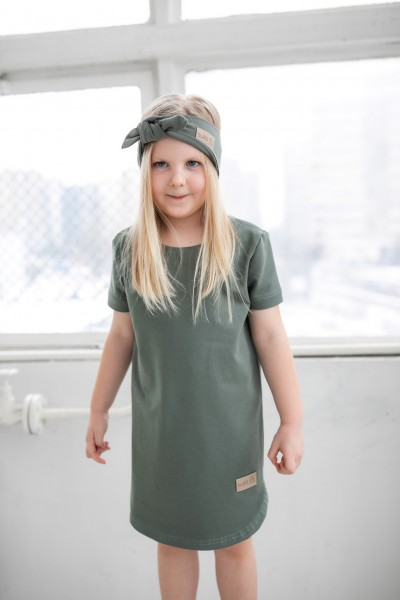 Sukienka dziecięca SIMPLE olive