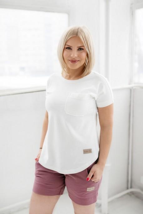 T-shirt damski POCKET white