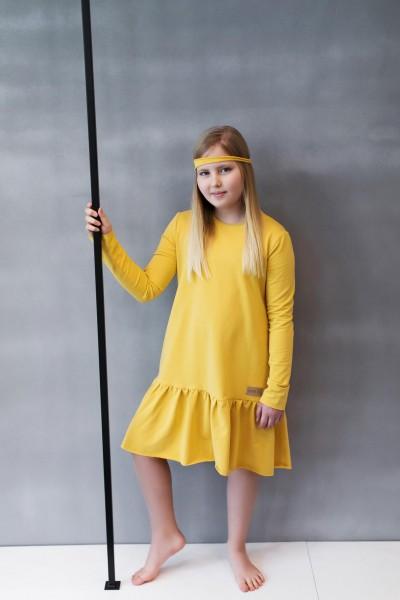 Sukienka dziecięca OVER FRILL light yellow