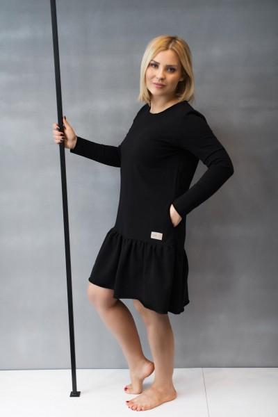 Sukienka damska OVER FRILL black