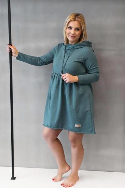 Sukienka damska HOODIE emerald