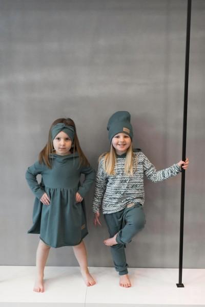 Sukienka dziecięca HOODIE emerald