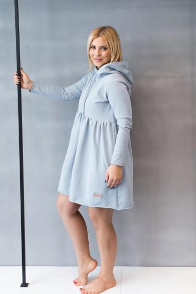 Sukienka damska HOODIE light blue