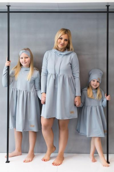 Sukienka dziecięca HOODIE light blue