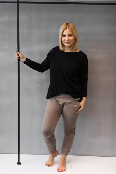 Spodnie damskie BAGGY light brown